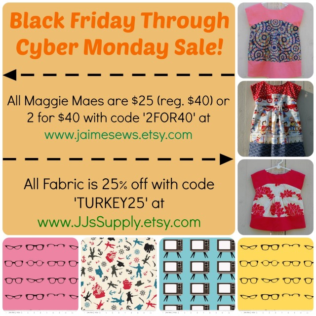 JaimeSews Black Friday - Cyber Monday Sale!
